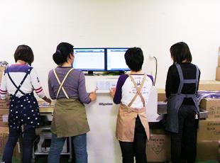 ツインモニターX線検針機を使用して検針している様子 2
